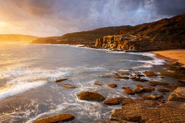 AUS4607AW Bullima Beach and Bouddi coastal walk. Bouddi National Park, Central Coast, New South Wales, Australia