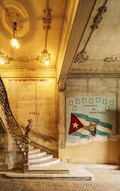 CUB2715AW La Guarida Restaurant entrance hall, Calle Concordia, Centro Habana, Havana, La Habana Province, Cuba