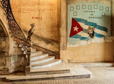 CUB2732AW La Guarida Restaurant entrance hall, Calle Concordia, Centro Habana, Havana, La Habana Province, Cuba