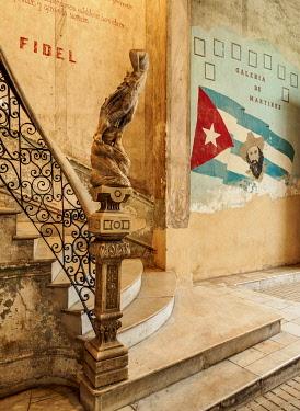CUB2733AW La Guarida Restaurant entrance hall, Calle Concordia, Centro Habana, Havana, La Habana Province, Cuba