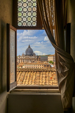 View over St. Peter's Basilica, Rome, Lazio, Italy