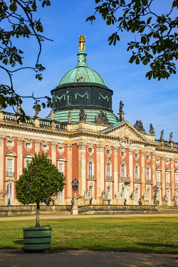 DE02160 New Palace at the Sanssouci Park,  Potsdam, Brandenburg, Germany