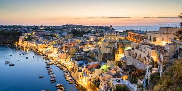 ITA16269AWRF Procida island skyline, Gulf of Naples, Naples province, Campania, Italy.