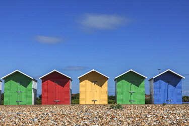 TPX75336 England, East Sussex, Eastbourne, Colourful Beach Huts