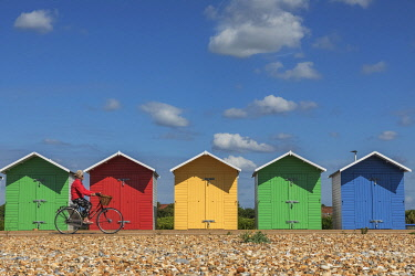 TPX75345 England, East Sussex, Eastbourne, Colourful Beach Huts