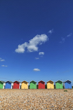 TPX75361 England, East Sussex, Eastbourne, Colourful Beach Huts