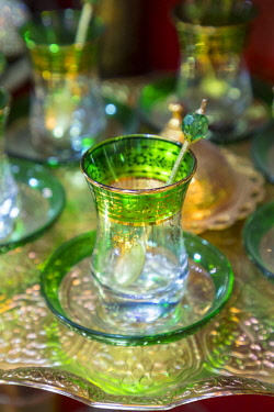 TK357RF Turkish tea glass, Grand Bazaar, Istanbul, Turkey