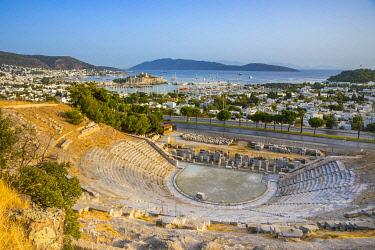 TK07044 Roman Amphitheatre & Castle Bodrum, Mugla, Aegean Coast, Turkey