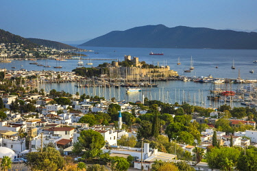 TK07047 Bodrum castle and harbour, Bodrum, Mugla, Aegean Coast, Turkey