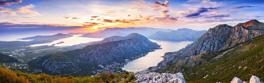 MNT0155AWRF Sunset Montenegro, Bay of Kotor, Kotor