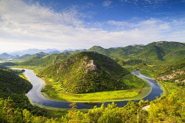 MNT0159AWRF Famous river bend at Rijeka Crnojevica, Lake Skadar, Montenegro