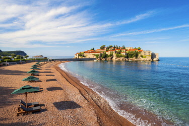 MNT0077AW Island village of Sveti Stephan, Sveti Stephan, Budva, Montenegro