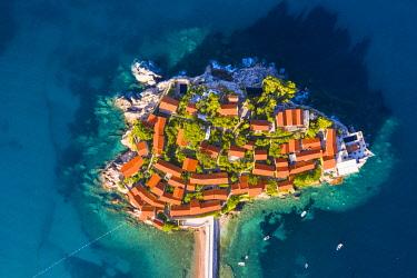 MNT0080AW Island village of Sveti Stephan, Sveti Stephan, Budva, Montenegro