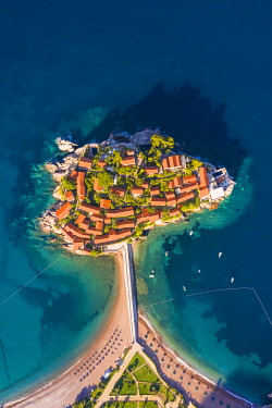 MNT0081AW Island village of Sveti Stephan, Sveti Stephan, Budva, Montenegro