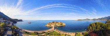 MNT0082AW Island village of Sveti Stephan, Sveti Stephan, Budva, Montenegro