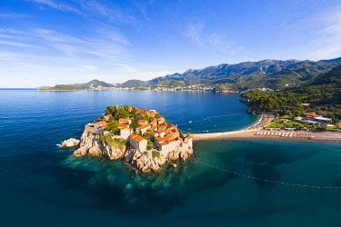MNT0085AW Island village of Sveti Stephan, Sveti Stephan, Budva, Montenegro