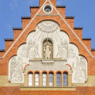 POL2699AW Church of the Sacred Heart of Jesus, Krakow, Poland, Eastern Europe