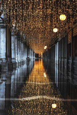 ITA16448AW Lights at St Marks Square in December, Venice, Italy
