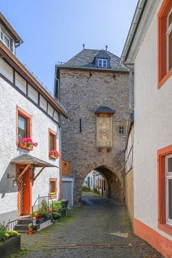 GER12574AW The shepherds tower at Blankenheim, Eifel, North Rhine Westphalia, Germany