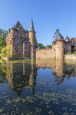 GER12591AW Satzvey castle, Eifel, North Rhine Westphalia, Germany