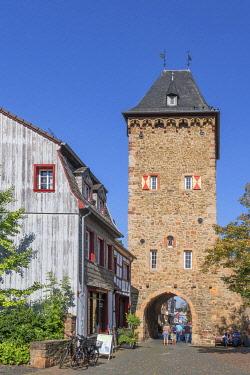 GER12600AW City gate, Bad Munstereifel, Eifel, North Rhine Westphalia, Germany