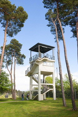 IBLFRS05794932 US Observation Tower, Point Alpha Memorial, Rasdorf, Hesse, Geisa, Thuringia, Germany, Europe