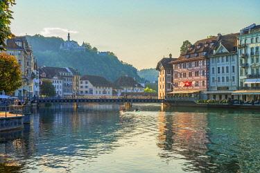 SWI8609AW River Reuss at Lucerne, canton Lucerne, Switzerland