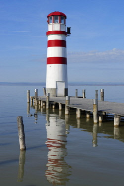 IBXDWB04165201 Lighthouse at port, Podersdorf am See, Burgenland, Austria, Europe