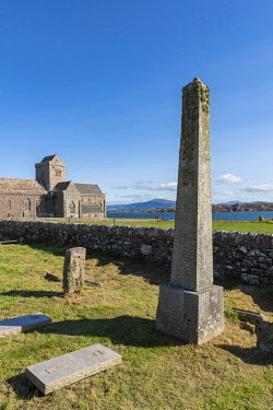 SCO35904 Scotland, Isle of Mull, Inner Hebrides, Iona Abbey, It is one of the oldest Christian religious centres in Western Europe, a monastic community founded by St. Columba in 563