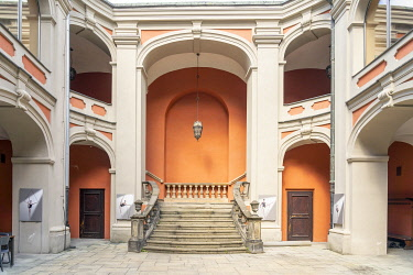 POL2758AW The baroque Ballet School, former Jesuit College, Old Town,Poznan, Poland, Eastern Europe