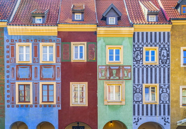 Merchants houses, Old Market square, Poznan, Poland, Eastern Europe