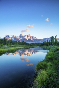 USA16005AW Schwabacher landing, Grand Teton National Park, Wyoming, USA