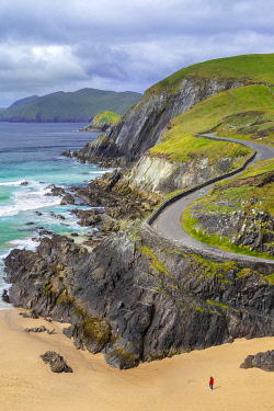 View of the Coumeenoole beach (Slea Head). Dingle peninsula, County Kerry, Munster province, Ireland.