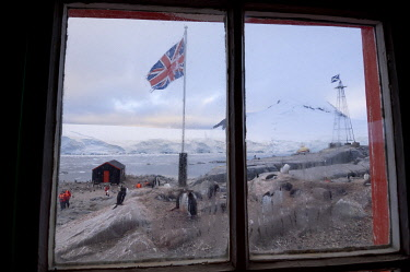 Antarctica, Antarctic Peninsula, Port Lockroy, British base.