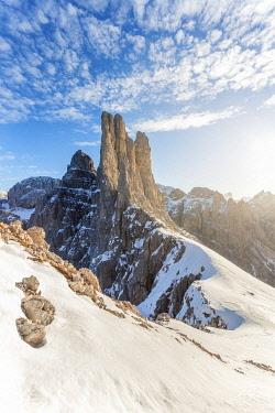 CLKMG133651 Vajolet Towers - Torri del Vajolet, Rosengarten - Catinaccio group, Trentino Alto Adige/S��dtirol, Dolomites, Italy