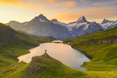CLKCC136709 Bachalpsee, Grindelwald Bernese Oberland, Switzerland