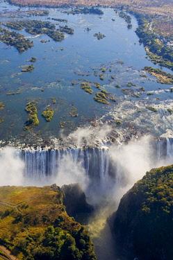 CLKSP136847 Victoria Falls, Zambesi River, Zambia - Zimbabwe border.