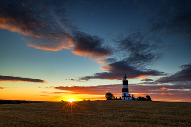 ENG18450AW Happisburgh Lighthouse at Sunset, Happisburgh, Norfolk, England