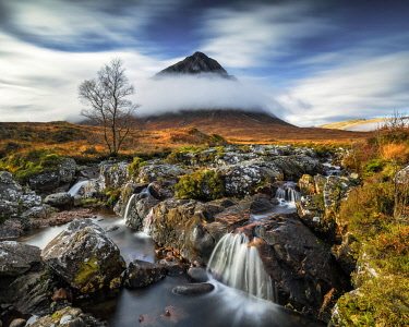 Buachaille Etive Mor & River Coupall, Glen Coe, Highlands, Scotland[credit][sep = / ]