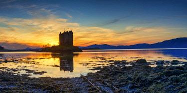 SCO36063AW Castle Stalker at Sunset, Argyll & Bute, Scotland