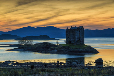 Castle Stalker at Sunset, Argyll & Bute, Scotland[credit][sep = / ]
