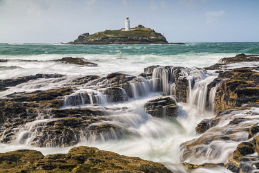 Godrevy Lighthouse, St. Ives Bay, Cornwall, England