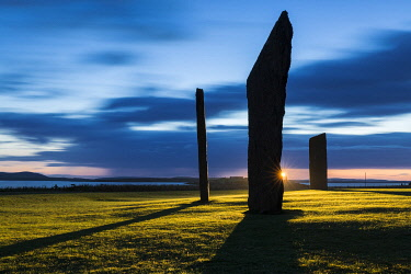 SCO36132AW The Standing Stones of Stenness, Mainland Orkney, Orkney Islands, Scotland