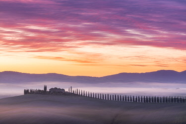 Sunrise over Val d'Orcia, Tuscany, Italy