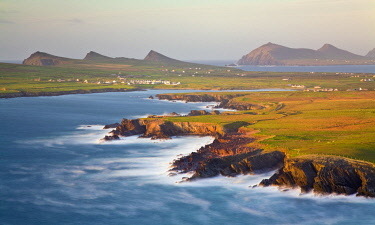 View over Ballyferriter Bay from Clogher Head, Dingle Peninsular, Co. Kerry, Republic of Ireland
