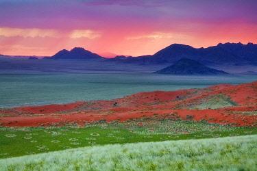 NAM6932AW Sunset in Wolvedans, namibiaRand Reserve, Namibia, Africa
