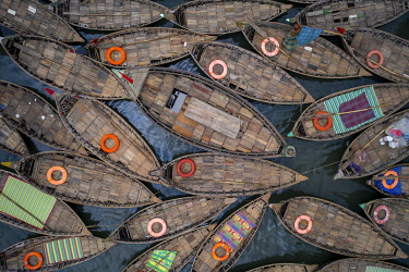 Boats shape like petals of a flower, Dhaka, Bangladesh