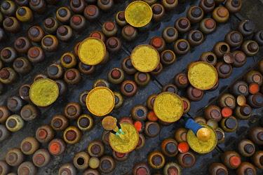 VIT1812AW Traditional soy sauce making, Hung Yen province, Vietnam.