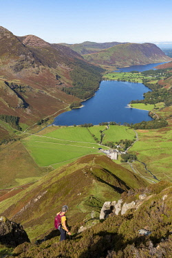 England, Cumbria, Lake District, Climbing Fleetwith Pike MR