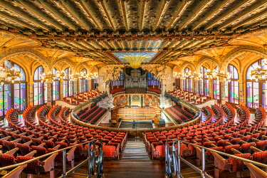 Palace of Catalan Music concert hall, Barcelona, Catalonia, Spain